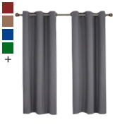 NICETOWN FBA_NTGMBLKSLD24263C1 Thermal Insulated Grommet Blackout Curtains