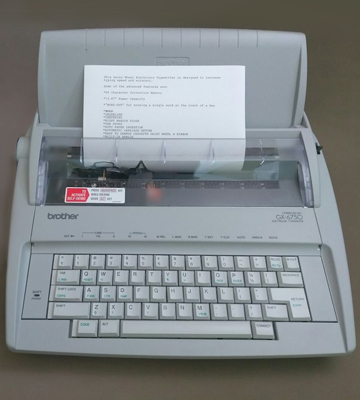 Review of Brother GX-6750 Daisy Wheel Electric Typewriter