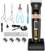 Ceenwes 11 Tools Professional Dog Grooming Clippers with Power Status Dog Grooming Kit