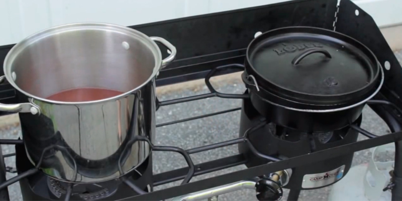 Camp Chef Explorer 2-Burner Stove in the use