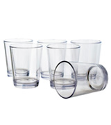 US Acrylic Bistro 15-ounce Clear Plastic Tumblers | set of 6