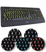Azio KB506U Vision Backlit Keyboard with Large Print keys