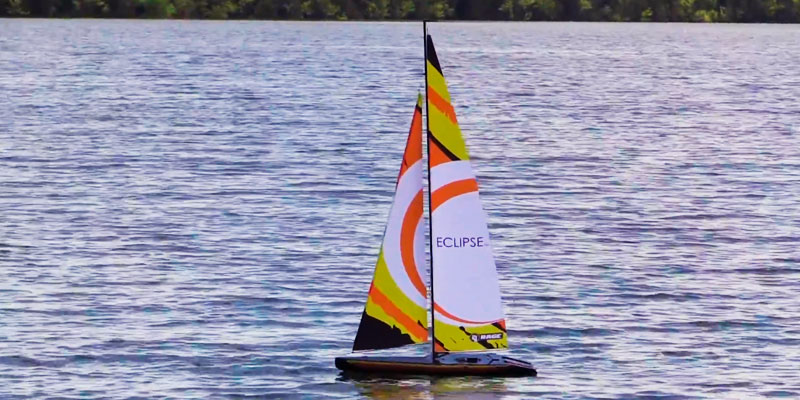 Rage RC B1300 Eclipse 1M Ready to Run Sailboat in the use