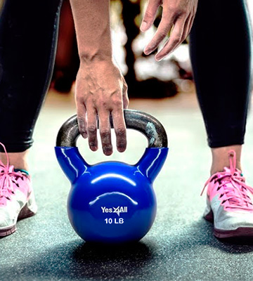 Review of Yes4All Vinyl Coated Kettlebell
