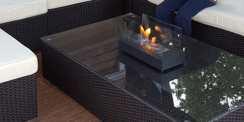 Moda Flame GF301801 Vigo Table Top Ethanol Fireplace in the use