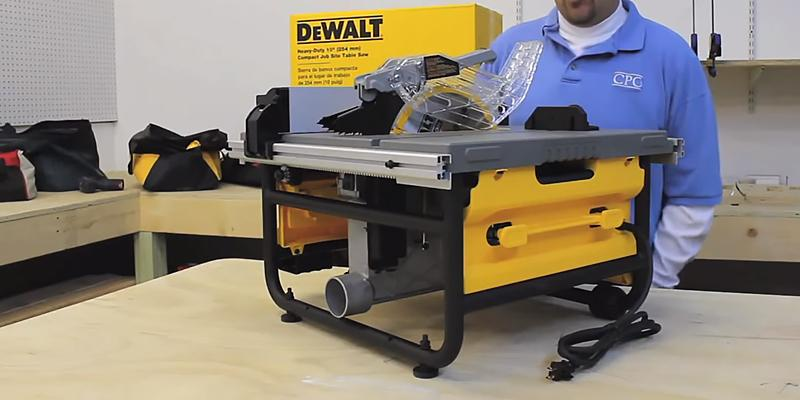 DEWALT DW745 Compact Job-Site Table Saw in the use
