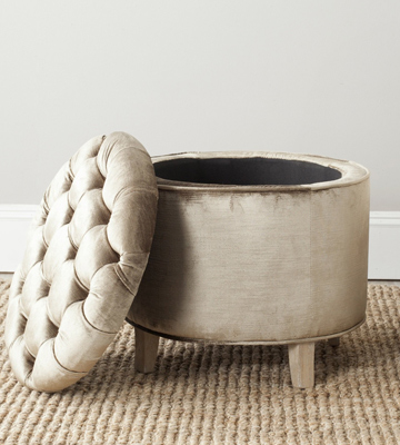Review of Safavieh Round Tufted Ottoman with Storage