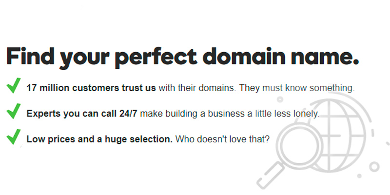 Review of GoDaddy Find your perfect domain name.