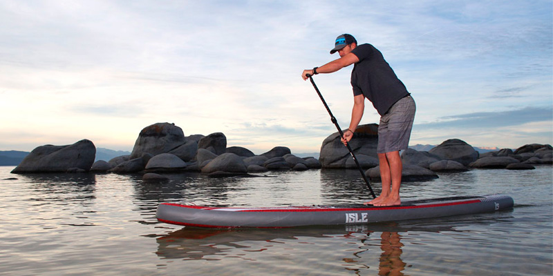 Detailed review of ISLE Surf and SUP Touring Inflatable Stand up Paddle Board