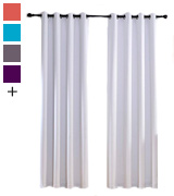 Miuco Thermal Insulated Grommet 52-Inch-by-84-Inch Blackout Window Curtain Panels with 2 Tie Backs