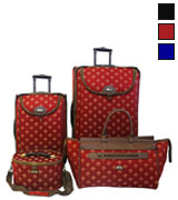 American Flyer 54500-4 RED Luggage Set