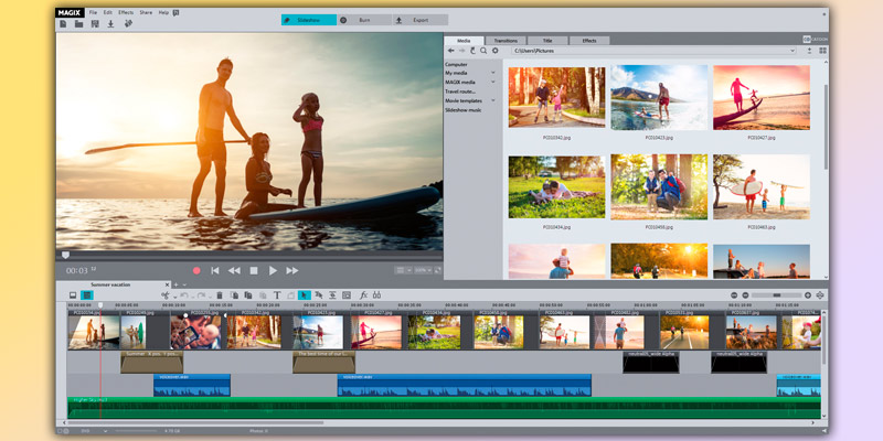 Detailed review of MAGIX Photostory Deluxe