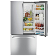 GE GNE25JSKSS 24.8 Cu. Ft. French Door Refrigerator