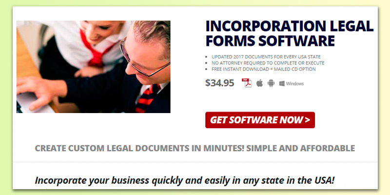Detailed review of Standard Legal Incorporation Legal Forms Software