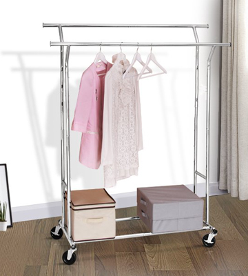 Review of Deco Brothers Double Rail Garment Rolling Rack