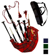 AAR Scottish Bagpipe Rosewood Royal Stewart Tartan