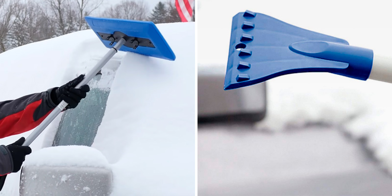 Review of Snow Joe SJBLZD Telescoping Snow Broom + Ice Scraper
