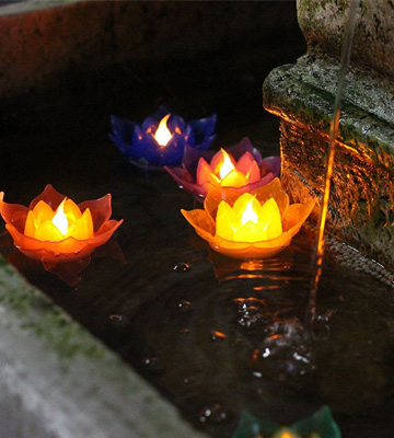 Review of Romingo JA15034-S7 Lotus LED Floating Candles, Flameless