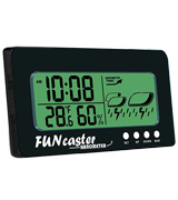TecScan FUNcaster Barometer with Time, Temperature, Humidity