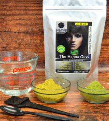 Review of The Henna Guys Jet Black Henna Hair Color/Dye