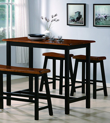 Review of Crown Mark Bar Counter Height Table Set