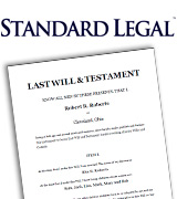 Standard Legal Last Will & Testament