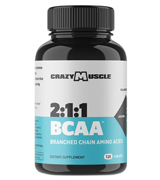 Crazy Muscle 1000mg, 120 Pill BCAA Pills