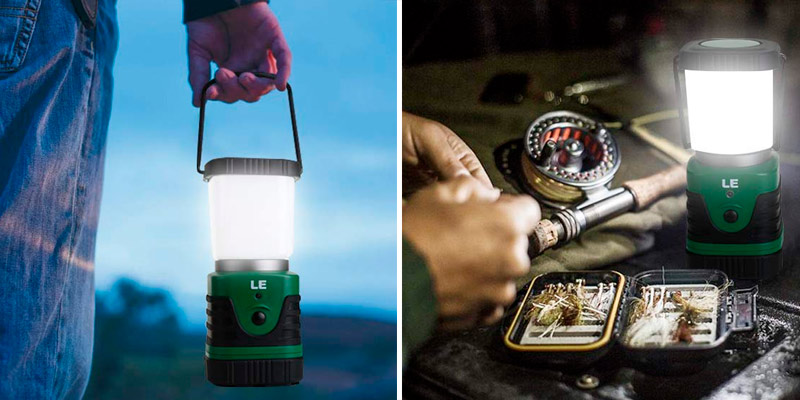 Review of Lighting EVER Waterproof Rechargeable LED Camping Lantern