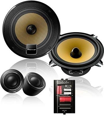 Review of Pioneer TS-D1330C Component Speaker Package