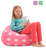 Big Joe 0630251 Classic Bean Bag Chair, Candy Pink Polka Dot