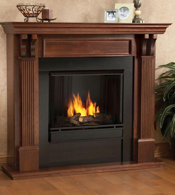 Review of Real Flame 7100 Ashley Gel Fireplace in Mahogany