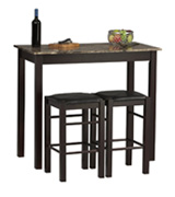 Linon Kitchen Bar Table Set