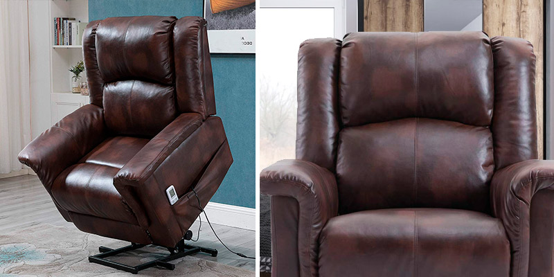 Review of Esright Recliner Power Lift Chair Electric Recliner PU Leather Heated Vibration
