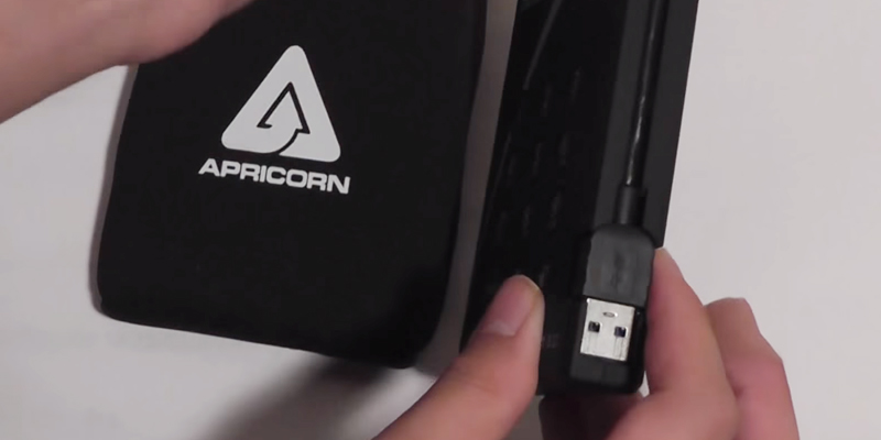 Apricorn Aegis Padlock (A25-3PL256-1000) Encrypted Portable External Hard Drive in the use