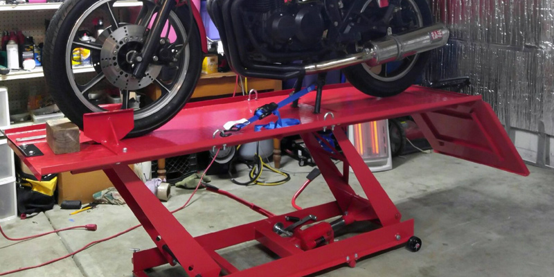 Review of Titan Ramps Motolift Motorcycle Lift Table Extra Long Heavy Duty