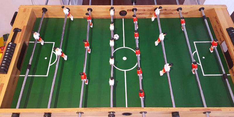 Best Choice Products Foosball Table in the use