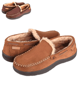 Zigzagger Men's Slippers Moccasin Memory Foam House Shoes