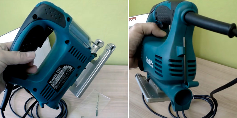 Makita 4329K Variable-Speed Top-Handle in the use