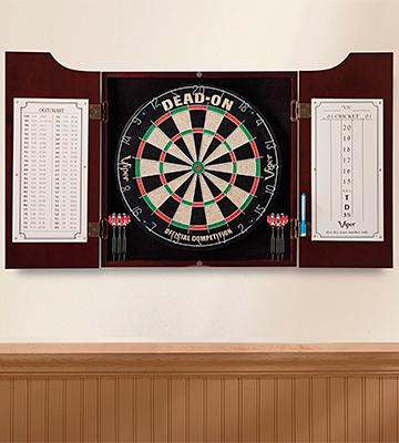 Review of Viper Hudson Sisal/Bristle Fiber Outdoor Dartboard and Cabinet Bundle