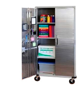 UltraHD UHD16236B Tall Storage Cabinet - Stainless Steel