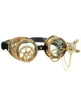 Cybergoth Scissors Steampunk Gear Aviator Goggles