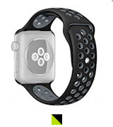 OULUOQI Soft Silicone Replacement Band for Apple Watch