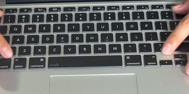 Moshi ClearGuard MB 13,15,17 inch MacBook Keyboard Cover in the use