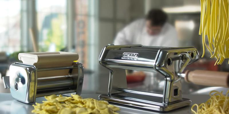 Detailed review of CucinaPro 150 Imperia Pasta Machine w Easy Lock Dial and Wood Grip Handle
