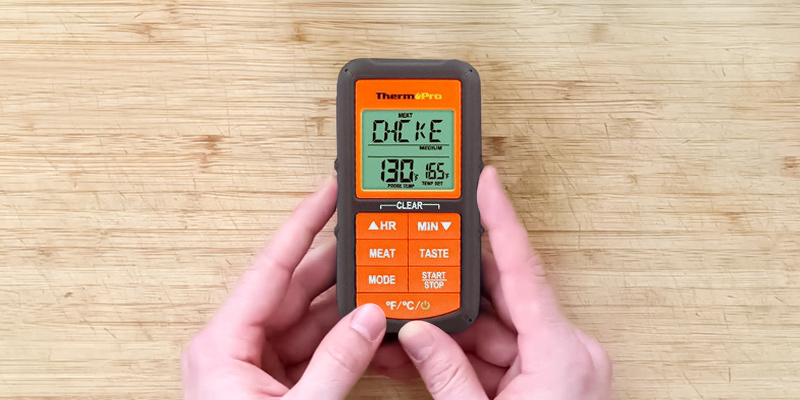 ThermoPro TP-07 Wireless Remote Digital Cooking Food Meat Thermometer in the use