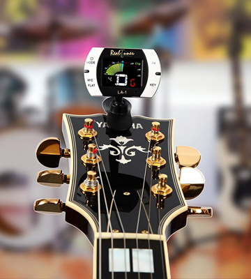 Review of Real Tuner LA-1 Chromatic Clip-on Tuner with A4 Pitch Calibration