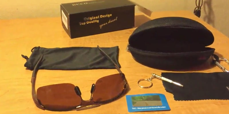 Detailed review of Duco Sports Style Polarized Sunglasses Golf Driving with Unbreakable Frame