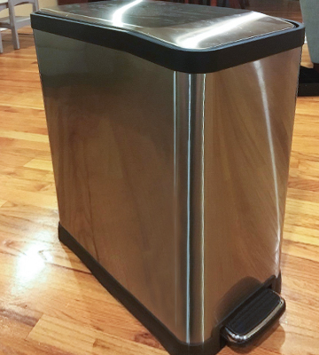 Review of Home Zone VA41311A Rectangular Step Kitchen Trash Can