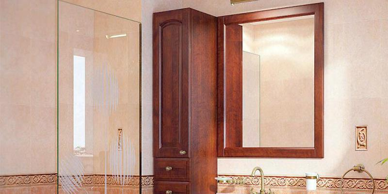 Zenith K16 Swing Door Oak Medicine Cabinet in the use