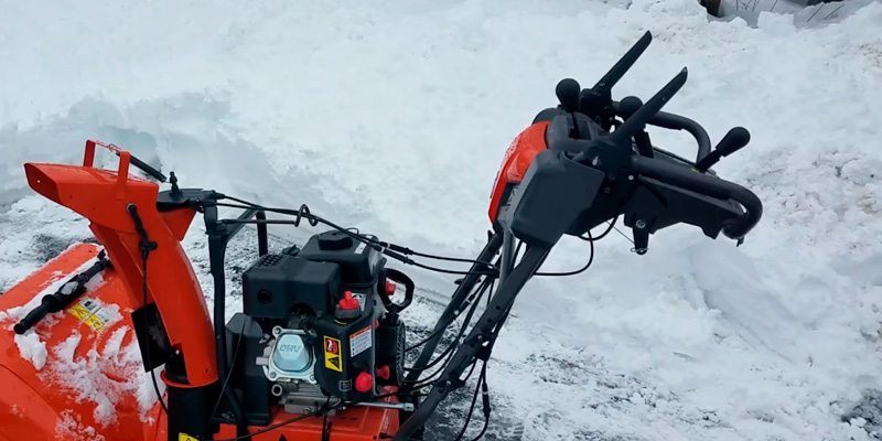 Husqvarna ST224P Power Steering Snowthrower in the use